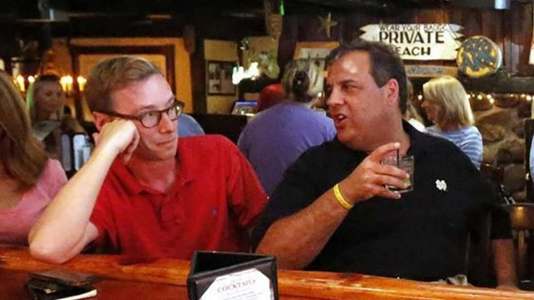 Reporter Matt Katz with N.J. Gov. Chris Christie at a Jersey Shore event in 2014. Katz will appear at the Collingswood Book Festival (Tim Larsen/New Jersey Governor's Office)