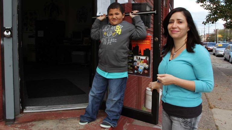 Luz Hernandez, executive director of Hispanos Unidos para Niños Excepcionales, a group that has been trying for three years to acquire property from the city of Philadelphia. (Emma Lee/for NewsWorks)