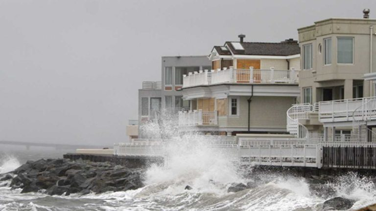 Homes along the New Jersey shoreline were battered during Hurricane Sandy (NewsWorks Photo, file)