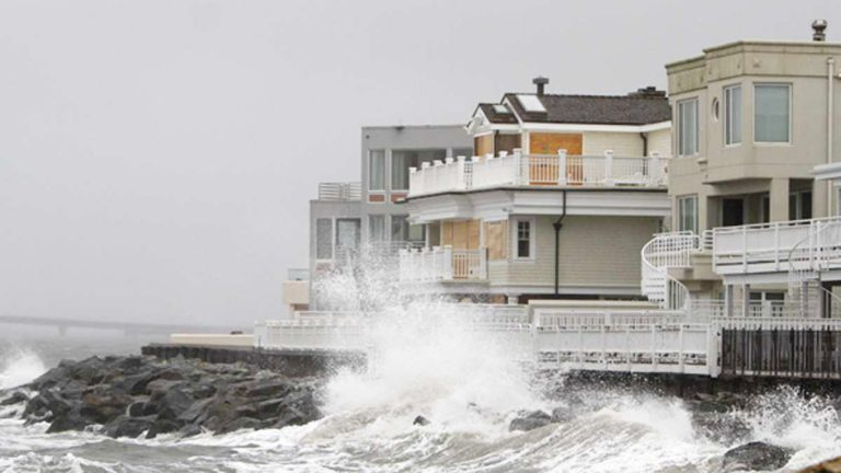 Homes along the New Jersey shoreline were battered during Hurricane Sandy (AP Photo, file)