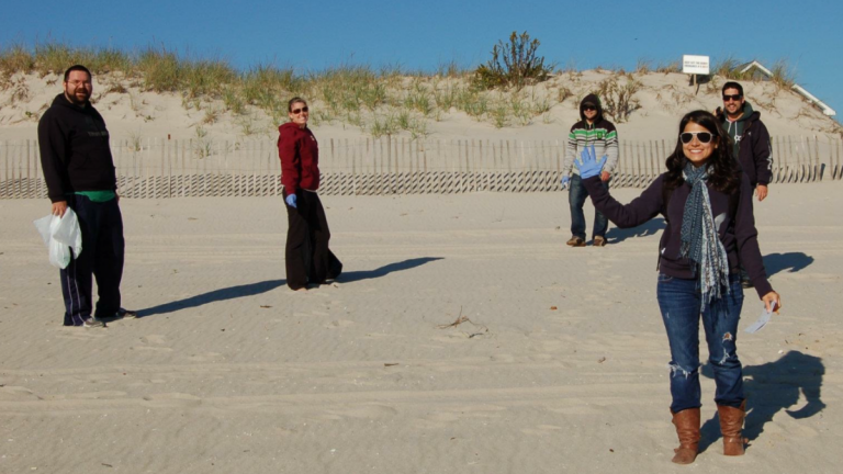 Beach Sweeps volunteers in South Seaside Park in 2011. (Photo: Dominick Solazzo)