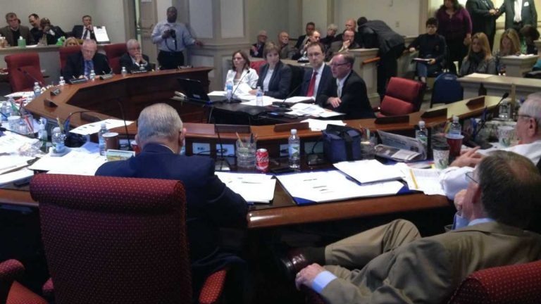 Members of the JFC hear testimony from education leaders in this file photo. (WHYY/file)
