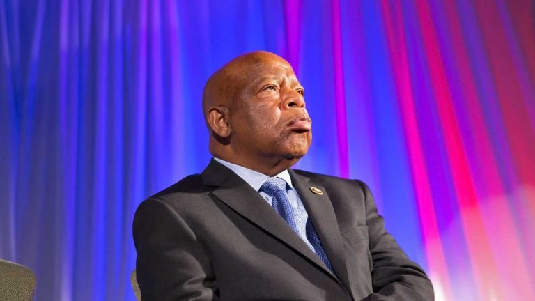 Congressman John Lewis will receive the Liberty Medal  Monday night at the National Constitution Center. (Lindsay Lazarski/WHYY)