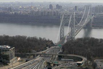 George Washington Bridge connects Fort Lee, N.J. to New York City. (AP Photo/Mark Lennihan)