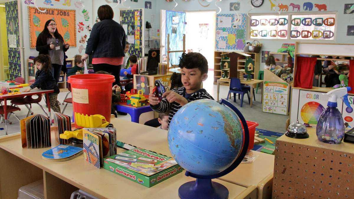 A preschool classroom at FELS Paley Center in North Philadelphia. (Emma Lee/WHYY