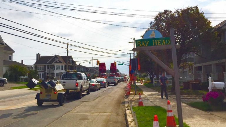 Route 35 in Bay Head on Oct. 29, 2014. (Photo: Justin Auciello/for NewsWorks)