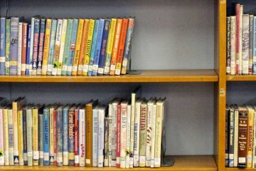 Books are shown from a children's library. (Jana Shea for WHYY)