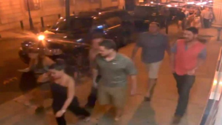 Image taken from security footage the night of an assault on a gay couple in Center City Philadelphia