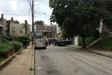 Cab-shooting suspect Justin Mackie was shot by police who attempted to the arrest him and stepbrother on this block in East Mt. Airy. (Bas Slabbers/for NewsWorks, file)