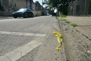 On July 15, 2012 off-duty police Officer Marc Brady was struck by a white 2000 Acura near this East Mount Airy intersection. (Brian Hickey/WHYY, file)