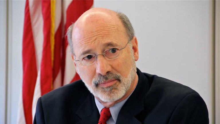 Pennsylvania Gov. Tom Wolf opposes a measure passed in the state Senate  to prohibit funneling an automatic deduction from a public employee's wages to any political activity. (AP file photo)