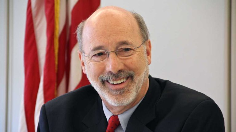 Gov. Tom Wolf fielded about 20 questions Friday during a Twitter  town hall.(Emma Lee/WHYY)