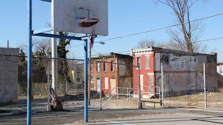 A block in the Mantua neighborhood of West Philadelphia is shown. (Emma Lee/for NewsWorks)