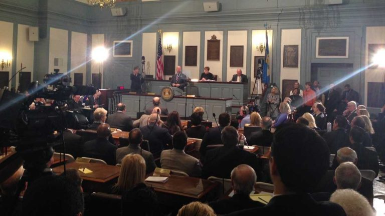 Governor Markell delivers his State of the State Address to a joint session of the General Assembly in Dover. (Mark Eichmann/WHYY)