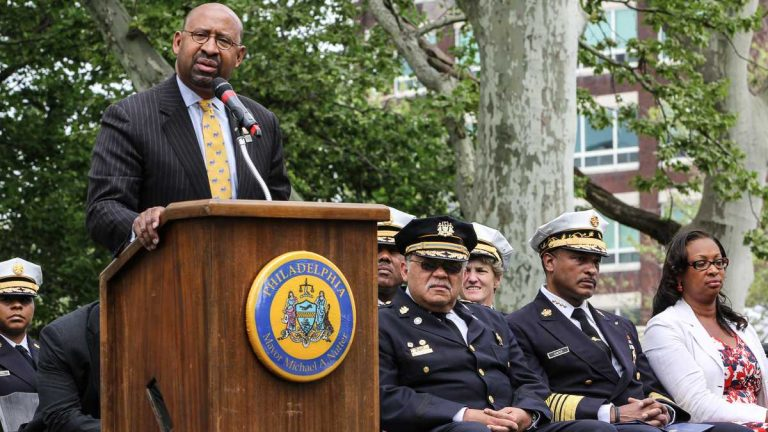 When the mayoral-campaign conversation turned to Police Commissioner Charles Ramsey, even current Mayor Michael Nutter chimed in with some strong words. (Kimberly Paynter/WHYY)