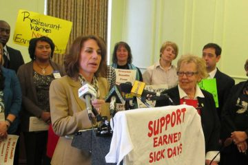 In 2014, New Jersey lawmakers and advocates call for statewide policy on paid sick leave. (Phil Gregory/WHYY)