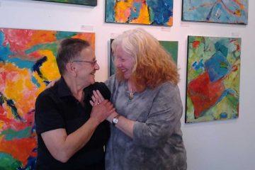 Mt. Airy Art Garage cofounders Arleen Olshan and Linda Slodki. (Alaina Mabaso/for NewsWorks)