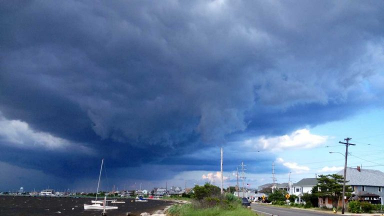 A strong thunderstorm heading over Seaside Park in July 2013. (Photo: Justin Auciello)