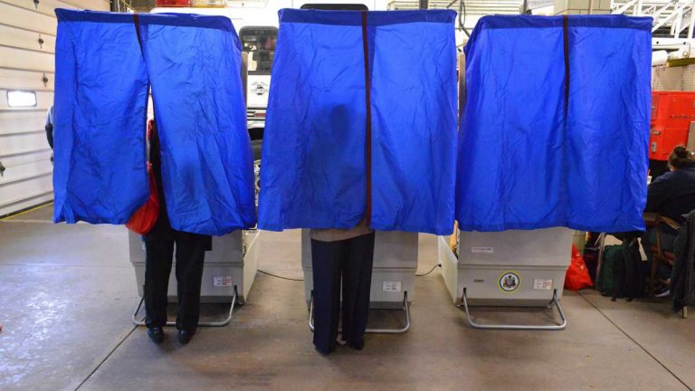 Voters cast their ballots on Election Day.