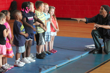 A scene from the  North Light Community Center's youth summer camp talent show. (Matt Grady/for NewsWorks, file)