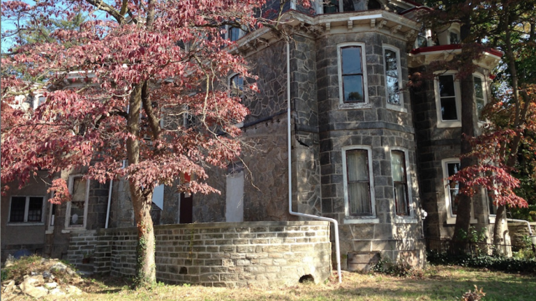 The stone house standing on the corner of Knox and Coulter Streets was built in 1871 and was owned by Francis and Thomas Cope, members of a prominent family of merchants in Philadelphia. (Neema Roshania/WHYY, file)