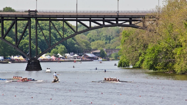 Traffic will be detoured along Kelly Drive from Thursday morning until Sunday night because of regattas on the Schuylkill River. (NewsWorks, file art)