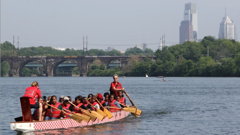 Saturday's Philadelphia Dragon Boat Races will leave much of Kelly Drive closed to traffic for much of the day. (Emma Lee/for NewsWorks)