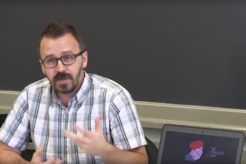 Drexel professor George Ciccariello-Maher (image via <a href='https://www.youtube.com/watch?v=s6-NjvRGOoo'>youtube</a>)
