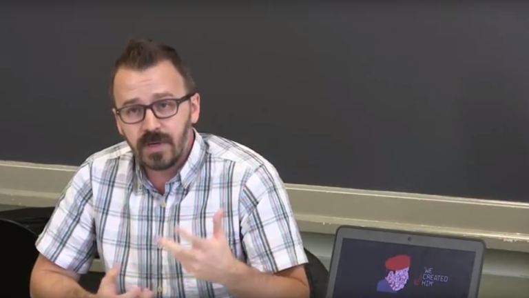 Drexel professor George Ciccariello-Maher (image via <a href='https://www.youtube.com/watch?v=s6-NjvRGOoo'>youtube</a>)