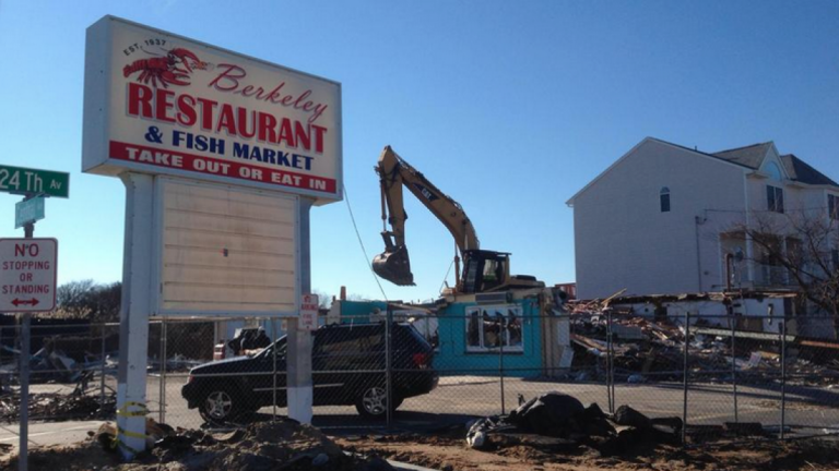 After decades of serving loyal patrons fresh Jersey Shore seafood, crews began demolishing Berkeley Restaurant and Fish Market on Dec. 26 (Photo: Kelly Mae)