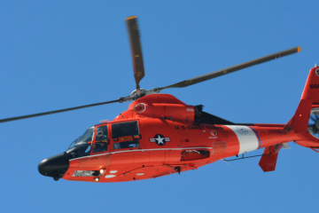 A U.S. Coast Guard MH-65 Dolphin helicopter. (Image: Wikipedia.org