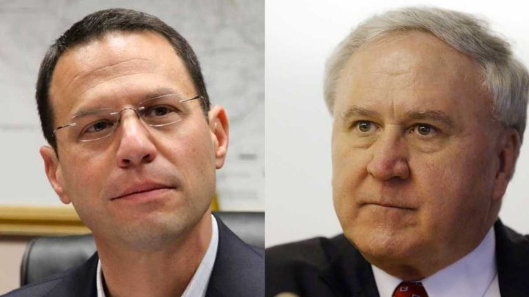 Candidates for Pennsylvania attorney general (from left) Josh Shapiro and John Rafferty. (NewsWorks and AP file photos)