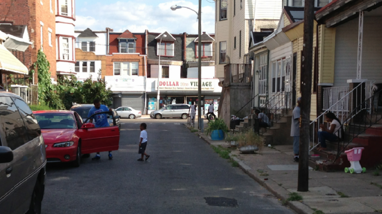 The section of the 1400 block of S. Allison St., where Marvin Brown was shot in June 2011. (Brian Hickey/WHYY)