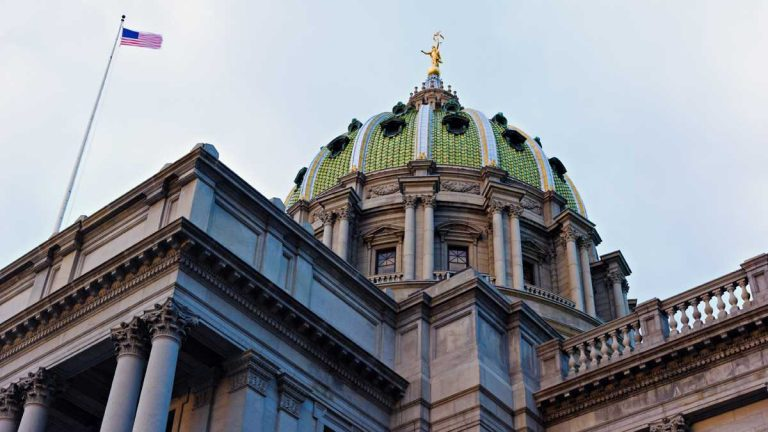 (<a href='http://www.shutterstock.com/pic-122718619/stock-photo-harrisburg-pennsylvania-state-capitol-building.html'>Pennsylvania state capitol</a> image courtesy of Shuterstock.com)