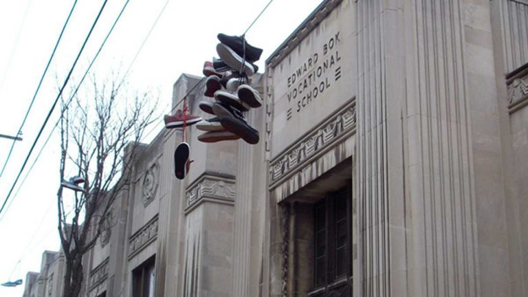 Bok Vocational High School was closed in 2013. (Eric Walter/WHYY)