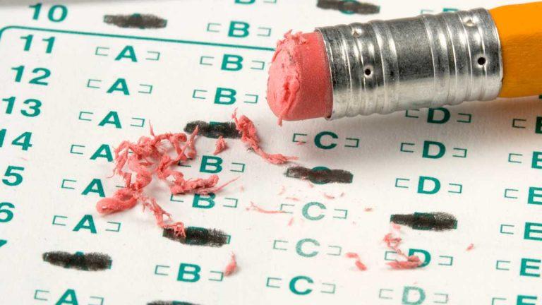 (<a href='http://www.shutterstock.com/pic-11698222/stock-photo-standardized-quiz-or-test-score-sheet-with-multiple-choice-answers.html?src=sVVNWaksC3Mj2hbzlLdXdQ-1-40'>Photo</a> via ShutterStock)