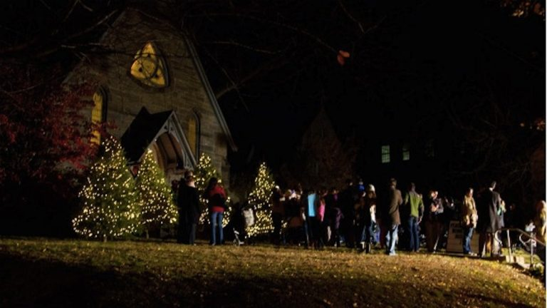 Head to the Woodmere Art Museum on Saturday for the annual tree lighting. (NewsWorks file)