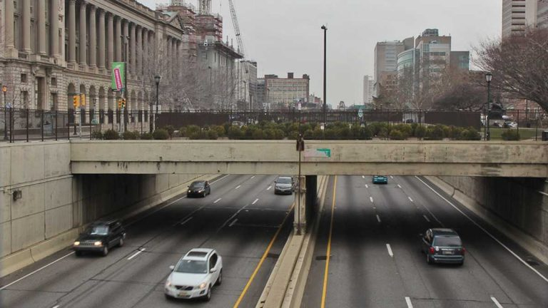 I-676 will be closing at night four times next week as work continues. (NewsWorks file photo)