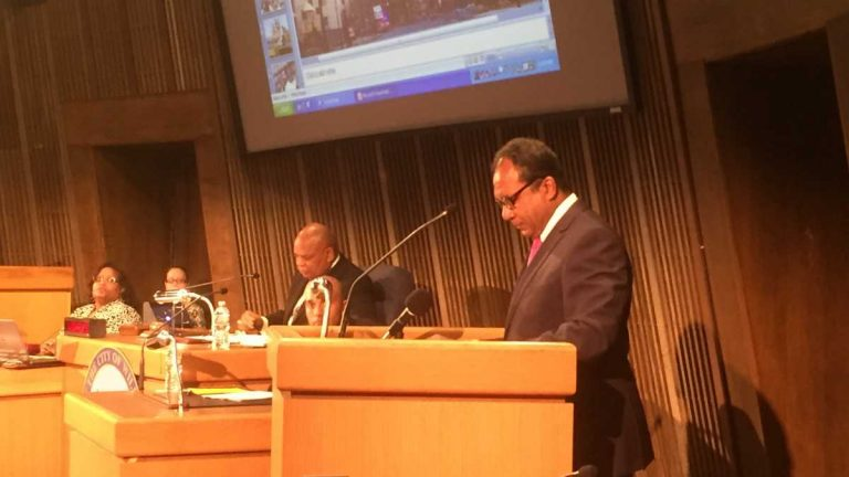 Mayor Williams delivers his budget proposal to City Council earlier this year. (FILE/WHYY)