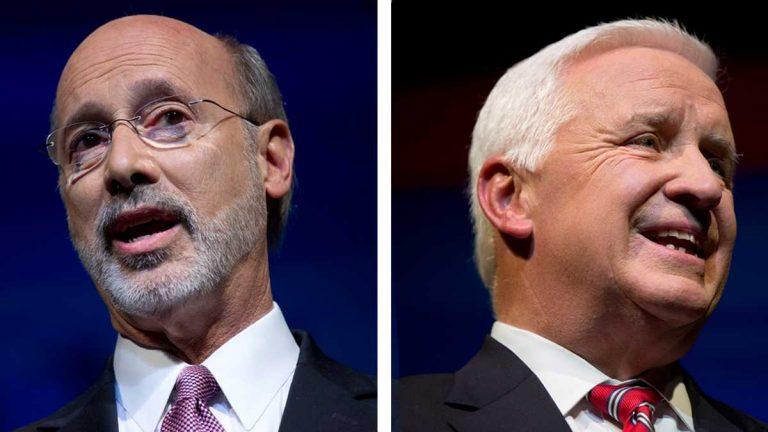 Democrat Tom Wolf and Republican Gov. Tom Corbett (Matt Rourke/AP Photos)