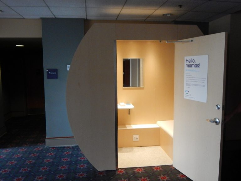 A 'lactation station' is open at the Pennsylvania  Convention Center. (Tom MacDonald/WHYY)