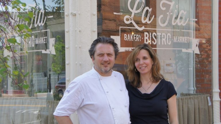 Bryan and Andrea Sikora, owners of LaFia restaurant (Jane Conway/for NewsWorks)