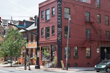 Small shops and studios make up Lancaster's Gallery Row. (Lindsay Lazarski/WHYY)