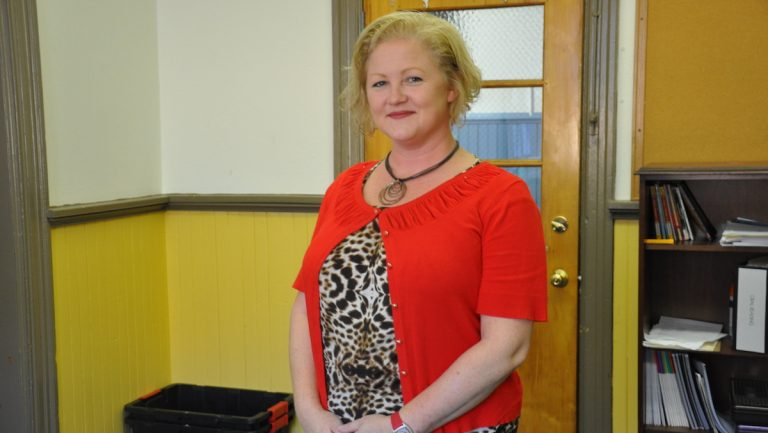 Lauren Bell is director of the Philadelphia Y.A.L.E school. (Greta Iverson/for NewsWorks)