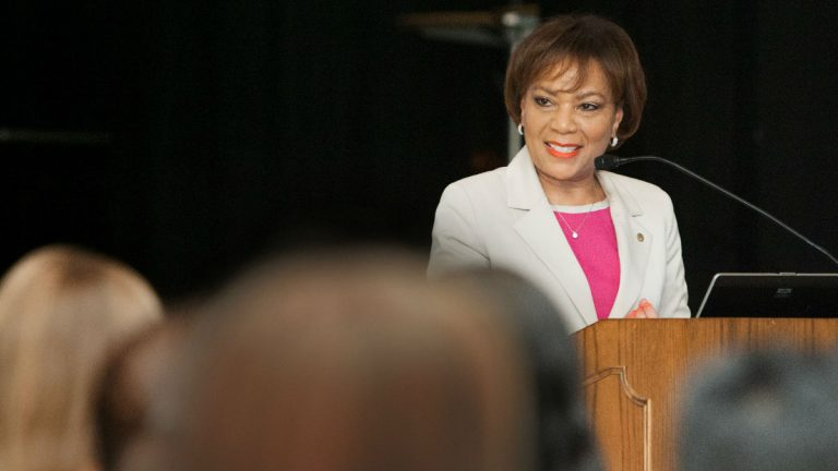 Dr. Laverne Harmon will be the first African American woman to lead any university in Delaware when she takes the reins at Wilmington University next year. (photo courtesy Wilm. U.)