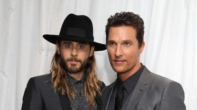 Actors Jared Leto and Matthew McConaughey are shown at the UK premiere of 'Dallas Buyers Club' in London. (Photo by Jon Furniss Photography/Invision/AP Images)