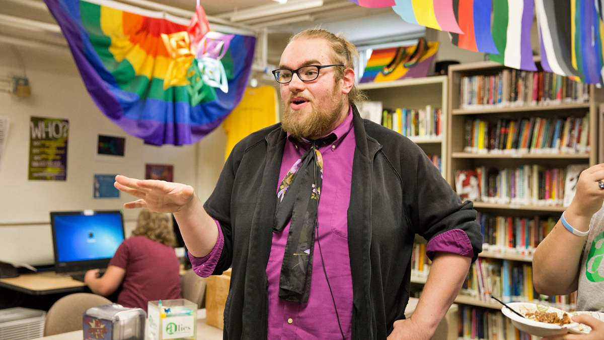 James Carraghan, a graduate student at Kutztown University, said he felt anxiety renting an apartment in Kutztown. Like most municipalities in Pennsylvania, Kutztown does not have an anti-discrimination law for people who identify as LGBT. (Lindsay Lazarski/WHYY)