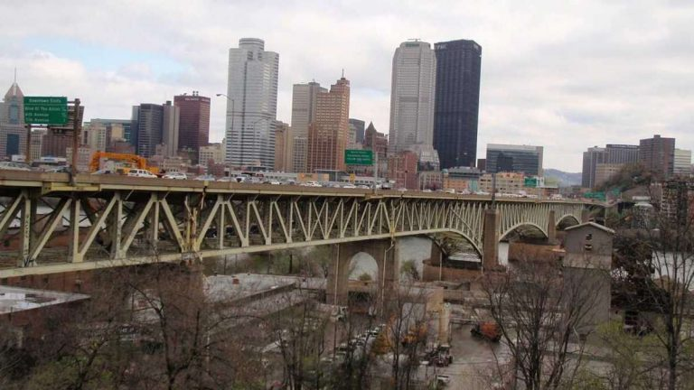 The Liberty Bridge in Pittsburgh. (Photo courtesy of PennDOT)