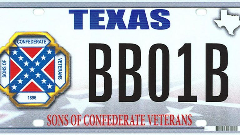 Sample license plate. (Texas Department of Motor Vehicles)
