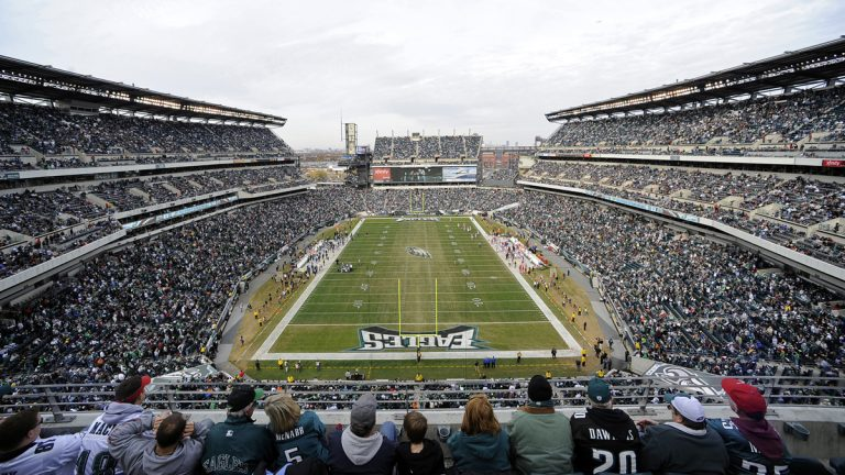 Lincoln Financial Field is shown during an Eagles game against the Arizona Cardinals in 2011. (AP Photo/Michael Perez, file)